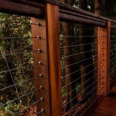 Wood Post Cable Railing Kits & Components