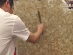 We use the knife to scrape against the marble porcelain tile to test its...