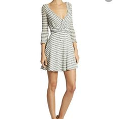 Free people dress Knit dress in A line style. It's like a mini. The A line style is very flattering. Bought it nearly 3 months ago and have not worn it once. Super cute!! Free People Dresses Mini
