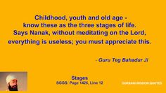 GURBANI.WISDOM.QUOTES (SGGS): Quote 114 - Guru Teg Bahadur Ji (Stages)