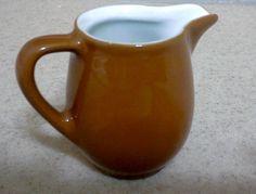 Vintage LILIEN PORZELLAN Mini Creamer, Brown Creamer, Ceramic Creamer, Creamers, Pottery Creamer, Porcelain Creamer, Rustic Creamers by Lalecreations on Etsy