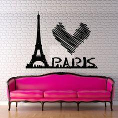 Wall decal decor decals art sticker Paris by DecorWallDecals, $28.99