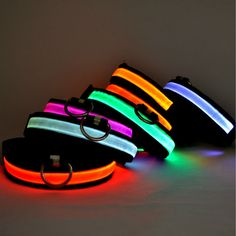 Free shipping New Safety Pet Products LED Dog Collar Nylon Light-up Flashing Glow LED Collars S M L XL Neck Strap For Small Dog