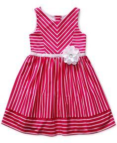 Sweet Heart Rose Little Girls' Striped Knit Dress - Kids Girls - Macy's Baby Girl Frocks, Frocks For Girls, Little Dresses, Little Girl Dresses, Kids Frocks Design, Baby Frocks Designs, Toddler Outfits, Kids Outfits, Baby Dress Design