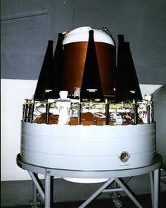 This is a Multiple Independently Targetable Reentry Vehicle (MIRV). Each of the small black cones is a warhead that can deliver to separate targets.