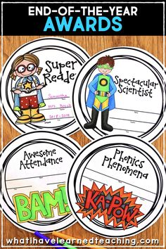 These end-of-the-year activities are perfect for and grades and keeps students busy during those last few days of school! Give students fun activities that fill their time and keep the teacher sane while packing up the room! Superhero Classroom, Future Classroom, Classroom Themes, End Of Year Activities, Book Activities, Teaching Reading, Teaching Kids, Teaching Second Grade, Classroom Community