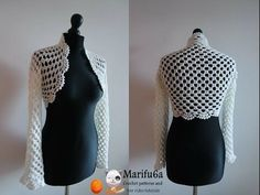 How to crochet elegant bolero chaleco shrug free tutorial pattern subtítulos en español - YouTube