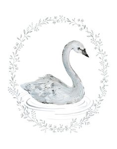 Swan Art Print - 11x14