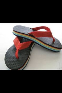 Rainbow thongs.  Back when we used to call 'em those.