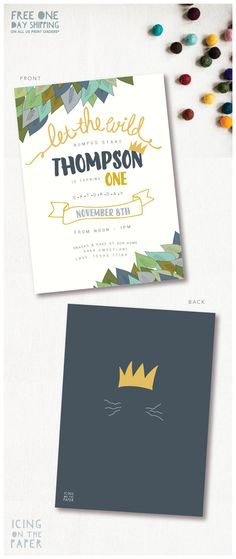 Where The Wild Things Are Invitation by icingonthepaper on Etsy