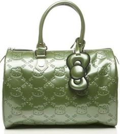 29c17a9a3f3e Chive Green with Green bow. Gina Marie · Hello Kitty Embossed Loungefly  City Bags