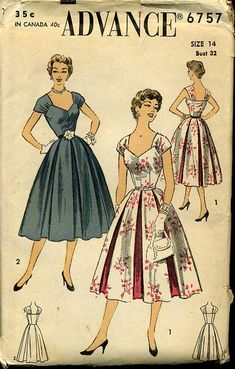 Vintage Original Advance Cocktail Dress Pattern No. Moda Vintage, Vintage Mode, Style Vintage, Vintage Outfits, Vintage Dresses, 60s Dresses, Vintage Clothing, 1950s Style, Vintage Dress Patterns
