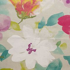 Mantra is a large-scale floral fabric from the Zen Garden Collection by P/Kaufmann. This fabric features broad beautiful flowers with a hand-painted look, screen printed on a sturdy blend of cotton and rayon with a soil and stain repellent finish.
