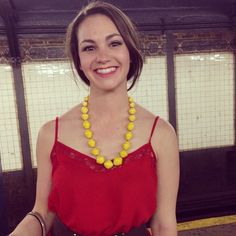 Rocking bright colors in an urban jungle with the yellow @31 Bits serendipity necklace #streetsofnyc #nyc #31bits #fashionforgood #giveback #originsmatter #ootd #aotd #fairtrade #handmade #shoplocal