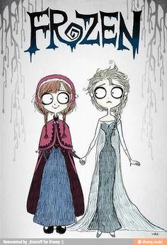 Frozen I'm by Tim burton