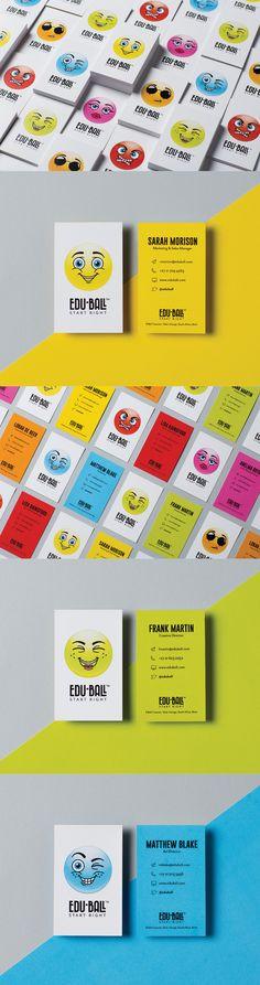 Edu-Ball Business Cards Graphic Design Studios, Logo Design, Corporate Stationary, Business Card Logo, Packaging Design, Branding, Brand Management, Design Packaging, Identity Branding