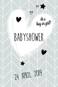 lovz.nl   babyshower uitnodigingskaart   scandinavisch ontwerp   jongen   zelf maken