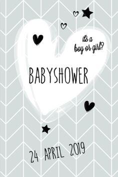 lovz.nl | babyshower uitnodigingskaart | scandinavisch ontwerp | jongen | zelf maken