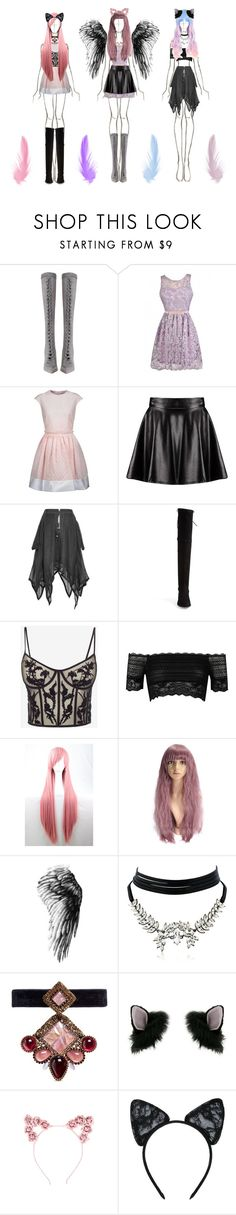 """""""Pastel Goth for @ruza-steampunk"""" by beanpod ❤ liked on Polyvore featuring Zimmermann, Carven, Boohoo, Maison Kitsuné, Stuart Weitzman, Alexander McQueen, River Island, WithChic, Erickson Beamon and Miss Selfridge"""