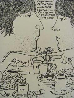 my-camellias: John Lennon & Paul McCartney by Klaus Voormann