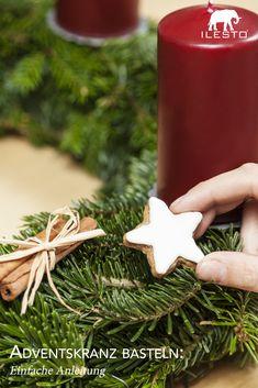 Wir zeigen dir, wie du deinen Adventskranz ganz einfach selbst machen kannst! 🎄 #advent #adventskranz #christmas #weihnachten #diy #ilesto #gartenhaus #aufbewahrungsbox #anleitung #einfach #selbermachen Weihnachten Diy, Christmas Ornaments, Holiday Decor, Home Decor, Tutorials, Garden Cottage, Make Your Own, Simple, Tips
