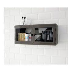RÅSKOG Wandschrank  - B: 60 cm, T: 19 cm, H: 27 cm max. Belastung/Regalboden: 8 kg - Stahl, Pulverbeschichtung auf Epoxidharz-/Polyesterbasis Glas: gehärtetes Glas - 49.99 --- IKEA