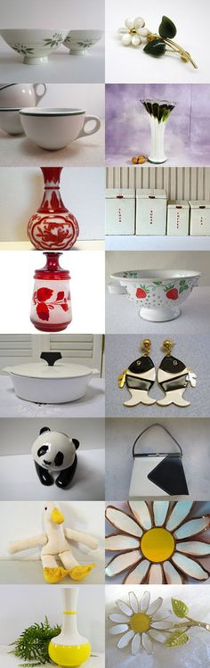 White and...       TeamVintageusa by Marsha on Etsy--Pinned+with+TreasuryPin.com