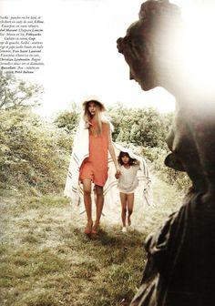 Mikael Jansson, Un dimanche à la campagne, Vogue Paris, Nov 2010. model: Sasha Pivovarova