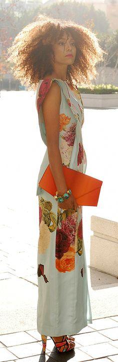 Giraffe. In Bloom (Part 2) /  The Global Girl floral dress