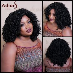 Fluffy Afro Curly Capless Vogue Long Black Women's Heat Resistant Fiber Wig #>=#>=#>=#>=#> Click on the pin to check out discount price, color, size, shipping, etc. Save and like it!