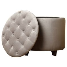 ABBYSON LIVING Grey Avery Tufted Lid Top Storage Ottoman - Overstock Shopping - Great Deals on Abbyson Living Ottomans