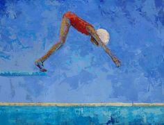 Little Black Girl Diving | Dive | Rebecca Kinkead