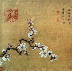 Ma YuanApricot & Peach BlossomsSouthern Song Dynasty1127-1279ink and color on silkalbum leaf - oberlin.edu