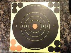 """2 each 6"""" SHOOT-N-C TARGETS , 12 TARGET REPAIR(9 black 3 orange) BIRCHWOOD CASEY"""