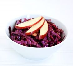 Want a healthy thanksgiving side dish? Try this Red Cabbage Salad with Cranberries. Red Cabbage Recipes, Red Cabbage Salad, Healthy Salad Recipes, Healthy Snacks, Healthy Sides, Healthy Habits, Healthy Eating, Cranberry Recipes, Cranberry Salad