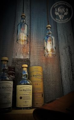 Beautiful Balvenie Whiskey Bottle Pendant lighting  #Antique #Bottle #DIY #Edison #Glass #Handmade #Kitchen #LightBulb #Recycled Want some upcycled whiskey bottle lighting with some class? Balvenie is the answer to that! These bottles are absolutely beautiful as a pendant light,...