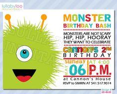 Monster Birthday Invitations (242)
