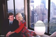 Entrepreneur Donald Trump and wife Ivana Trump are photographed in 1987 at home in Trump Tower in New York City.