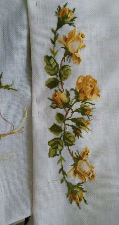 """Harika """"This post was discovered by nil"""" Cross Stitch Bird, Cross Stitch Borders, Modern Cross Stitch, Cross Stitch Flowers, Cross Stitch Charts, Cross Stitch Designs, Cross Stitching, Cross Stitch Patterns, Hand Embroidery Designs"""