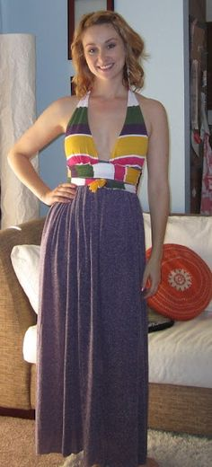 DIY Halter Dress... would be easy to add padded cups to the top for a built-in bra!