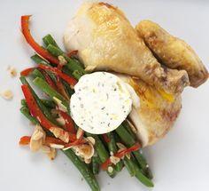 Juicy Brined Whole Roasted Chicken / @DJ Foodie / DJFoodie.com