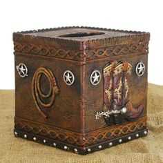 Fireside Home - W-797 Square Tissue Box, #homedecor #home #decor #homeaccent #western #westerndecor #country #primitivedecor (http://www.firesidehome.ca/square-tissue-box/)