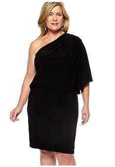 Jessica Simpson Plus Size One Shoulder Dress