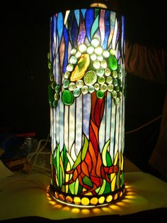 Homage To A Tree Pendant Lamp by Woodlandstainedglass on Etsy, $1560.00