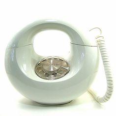"vintage sculptura ""donut"" phone. mid century modern"