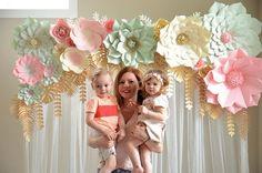 Set de flores de papel gigantes. Sólo flores. flores gigantes de Seattle