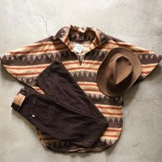 Vintage wool poncho $58+$16 domestic shipping. Levi's 619 bootcut cords, size 27x34, $45+$12 domestic shipping. Woolrich felt hat, size L, $30+$12 shipping. Call 415-796-2398 to purchase or PayPal afterlifeboutique@gmail and reference item in post.