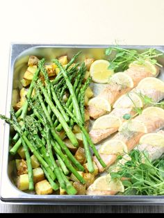 Steam Oven Salmon with Lemon, Asparagus and Potatoes — Steam and Bake