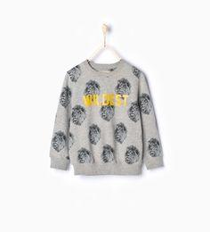 "Image 1 of ""Wildest"" lions sweatshirt from Zara"