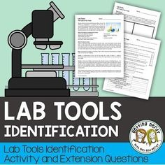 This Lab Tools Activity can be used as supplement to your Scientific Method Unit as you introduce students to the necessary tools for scientific experimentation. WHAT'S INCLUDED IN THIS 1 DAY LESSON: Biology Lessons, Science Biology, Science Lessons, Teaching Science, Life Science, Ap Biology, Physical Science, Earth Science, Science Experiments